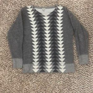 Crew Neck Chevron Sweatshirt